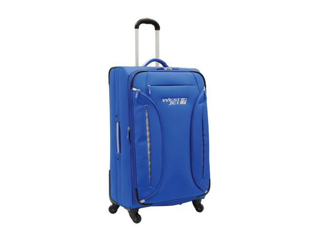 WestJet Feather Lite Spinner Luggage 28 inches 4-Wheel Exp. Upright Trolley - Blue Color
