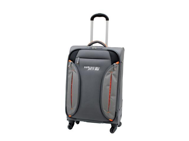 WestJet Feather Lite Spinner Luggage 24 inches 4-Wheel Exp. Upright Trolley - Grey Color