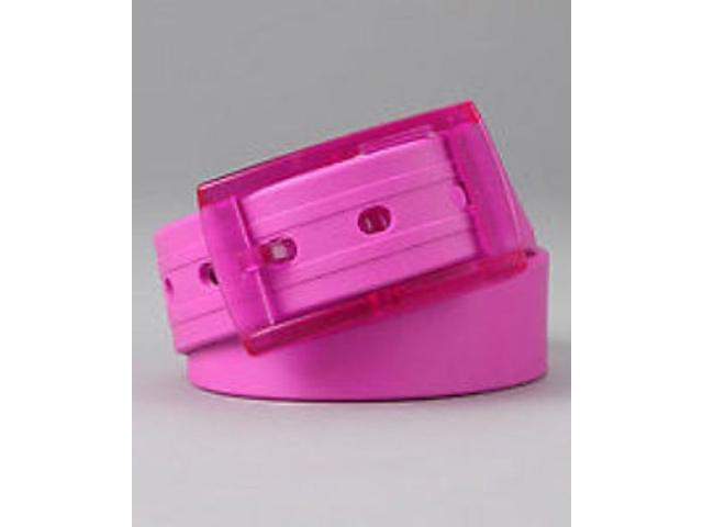 2 X Colorful Silicone Waist Belt - Fuchsia Color