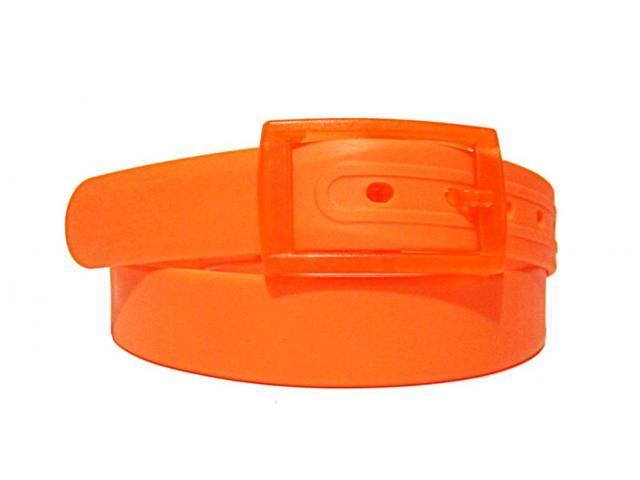 2 X Colorful Silicone Waist Belt - Orange Color