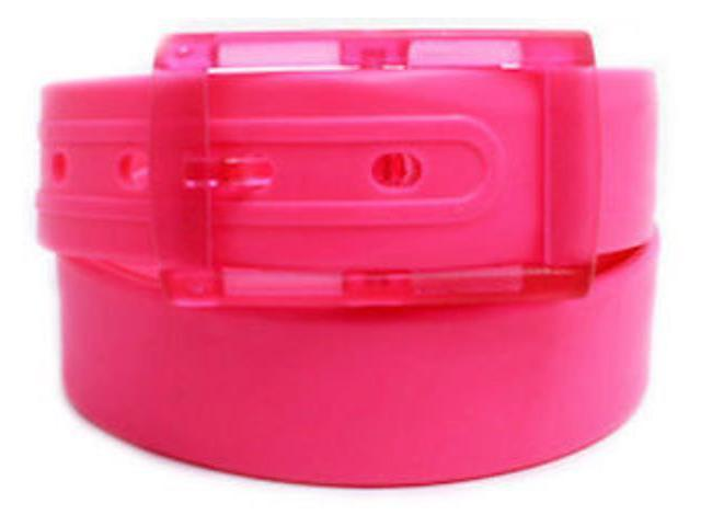 2 X Colorful Silicone Waist Belt - Neon Pink Color