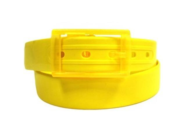 2 X Colorful Silicone Waist Belt - Yellow Color