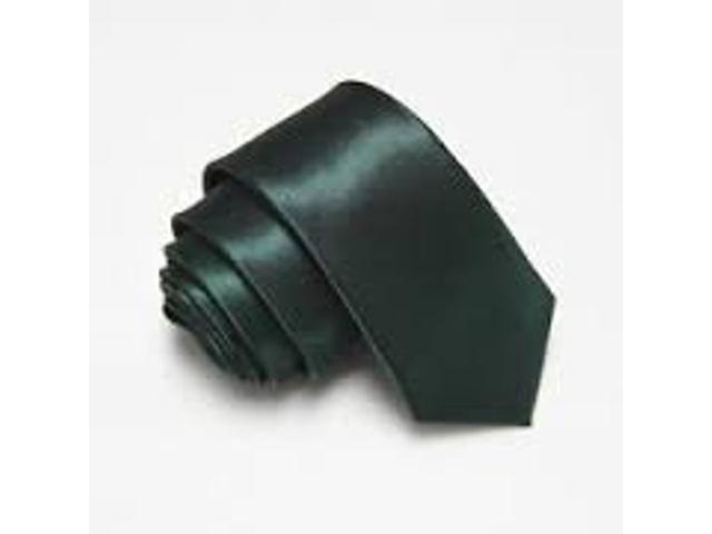 2 X Casual Stylish Slim Necktie (Skinny Tie) - Army Green