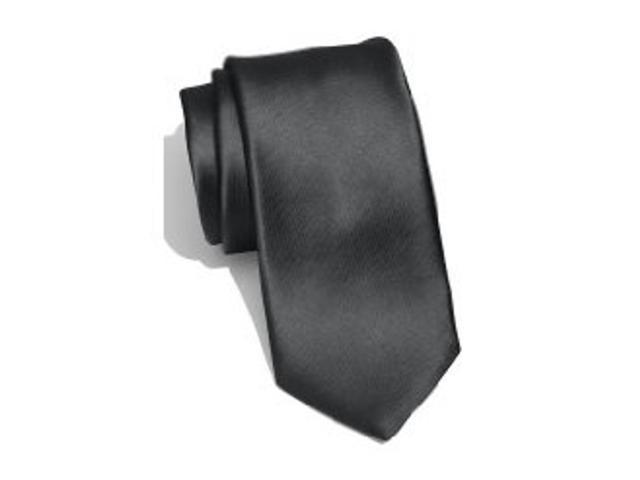 2 X Casual Stylish Slim Necktie (Skinny Tie) - Dark Gray