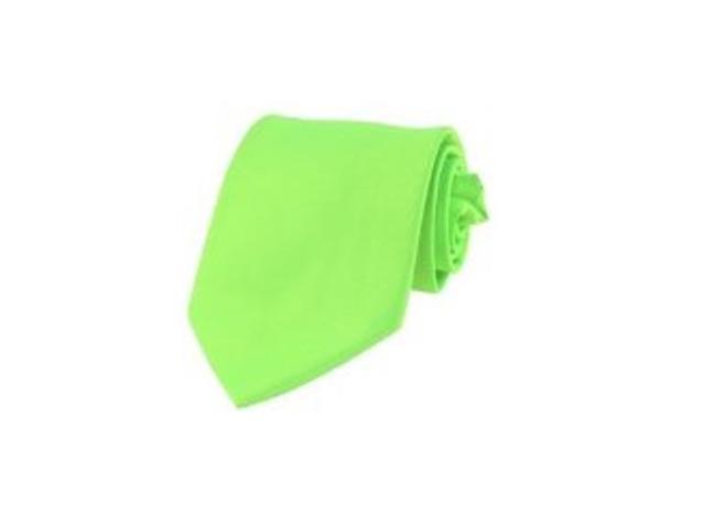 2 X Casual Stylish Slim Necktie (Skinny Tie) - Neon Green