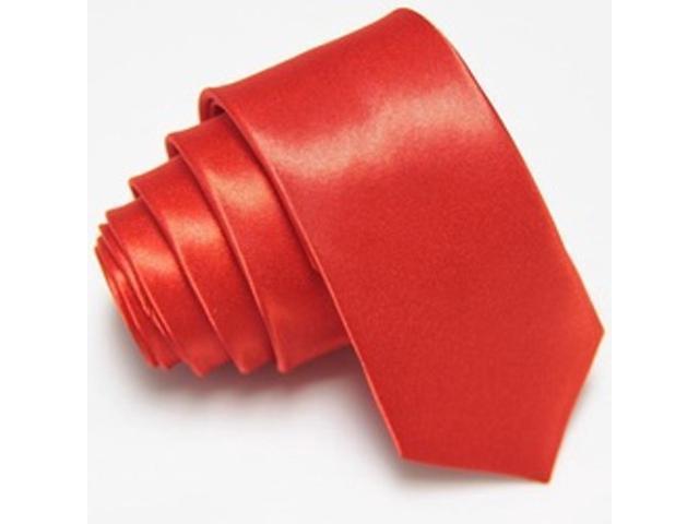 2 X Casual Stylish Slim Necktie (Skinny Tie) - Red