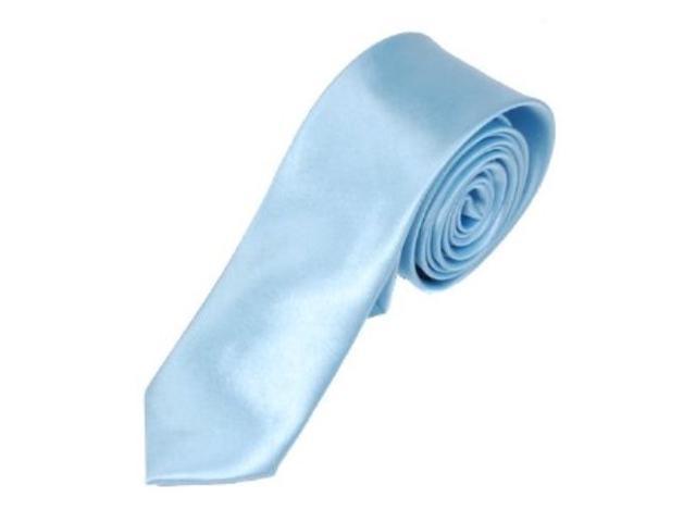 2 X Casual Stylish Slim Necktie (Skinny Tie) - Sky Blue
