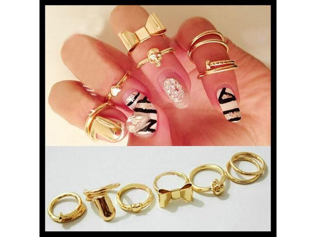 Fashion knuckle Midi Rings (set of 7)