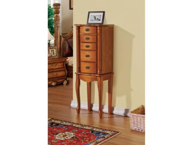 Jewelry Armoire/Cabinet for Necklaces, Bracelets, Rings - Oak Color