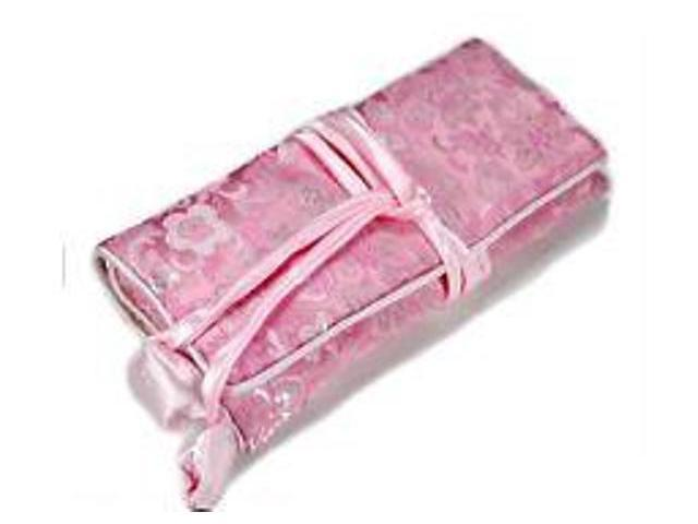 Silk Jewelry Travel Organizer - Pink Color