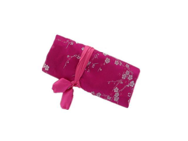 Silk Jewelry Travel Organizer - Hot Pink Color