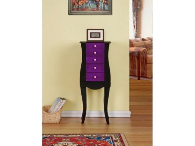 Jewelry Armoire/Cabinet/Organizer for Necklaces, Bracelets, Rings - Purple Color