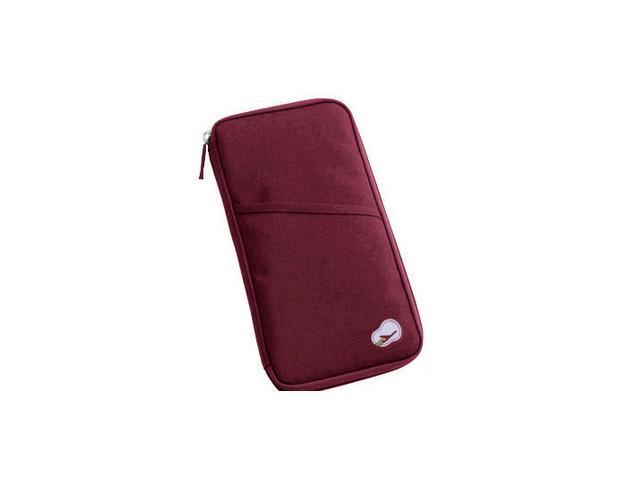 Passport Holder Wallet - Burgundy Color