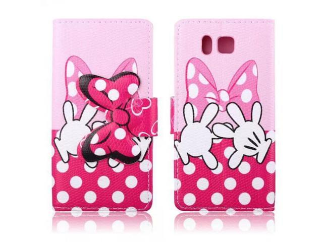 New mickey Minnie Mouses' Bow-know Fashion Flip PU Stand Case Cover ...