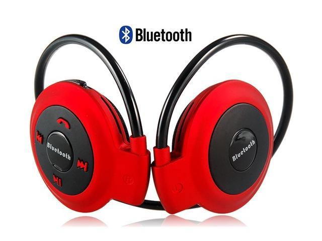 mini 503 wireless bluetooth stereo headset with microphone red. Black Bedroom Furniture Sets. Home Design Ideas