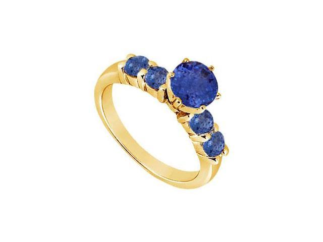 Sapphire Ring  14K Yellow Gold - 0.75 CT TGW