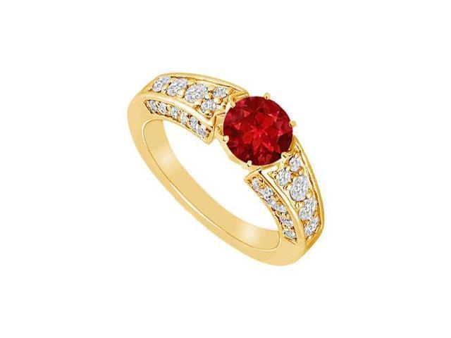 Ruby and Diamond Ring  14K Yellow Gold - 2.00 CT TGW