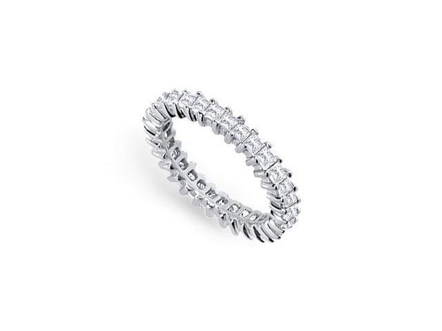 One and Half Carat Platinum Diamond Eternity Band