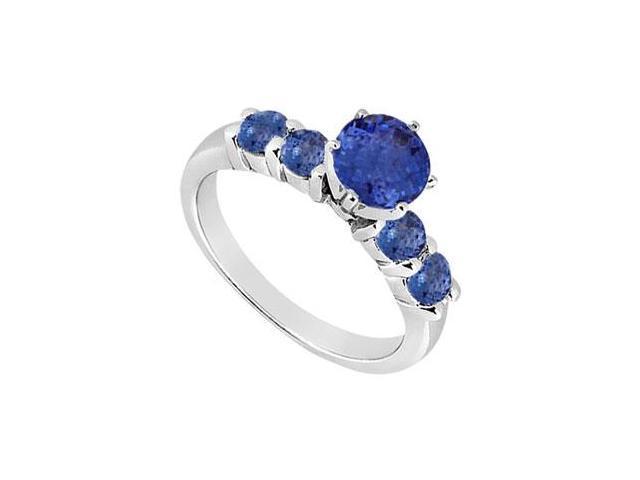 Sapphire Ring  14K White Gold - 0.75 CT TGW