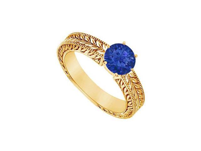 Sapphire Ring  14K Yellow Gold - 0.50 CT TGW