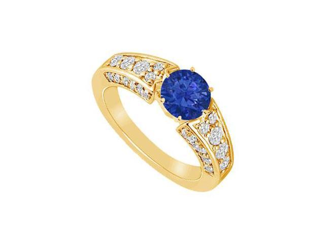Sapphire and Diamond Ring  14K Yellow Gold - 2.00 CT TGW