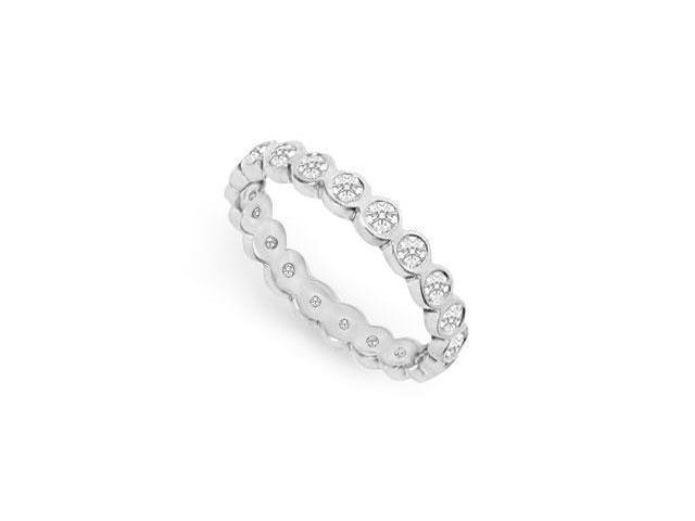 Diamond Eternity Band  14K White Gold - 1.00 CT Diamonds