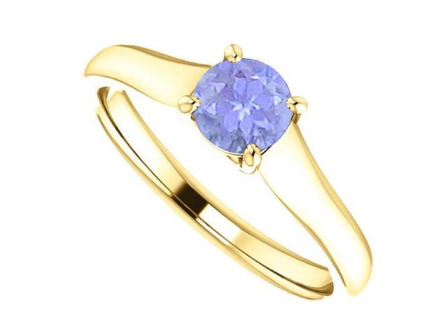 December Birthstone Tanzanite Engagement Rings in 14K Yellow Gold 0.50 CT TGW
