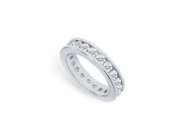 Two Carat Platinum Diamond Eternity Band