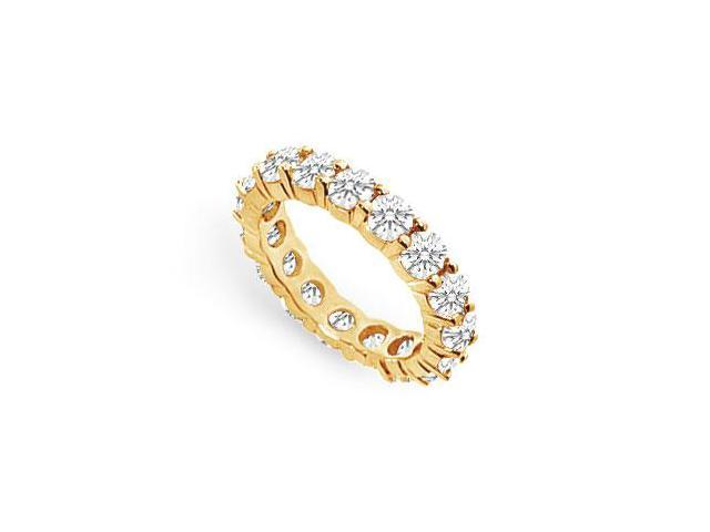 Three Carat Diamond Eternity Band in 14K Yellow Gold