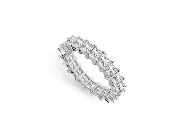 Three and Half Carat Diamond Eternity Band in 14K White Gold