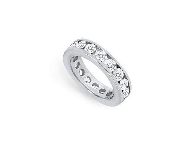 Two and Half Carat Platinum Diamond Eternity Band