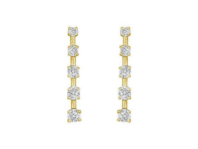 Diamond Journey Earrings  14K Yellow Gold - 1.00 CT Diamonds