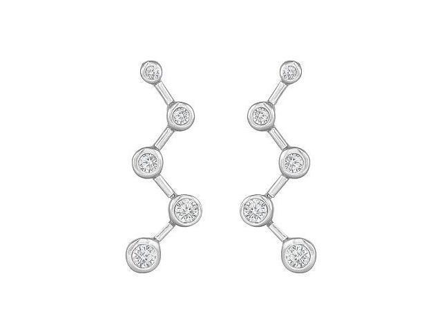 Diamond Journey Earrings  14K White Gold - 0.50 CT Diamonds