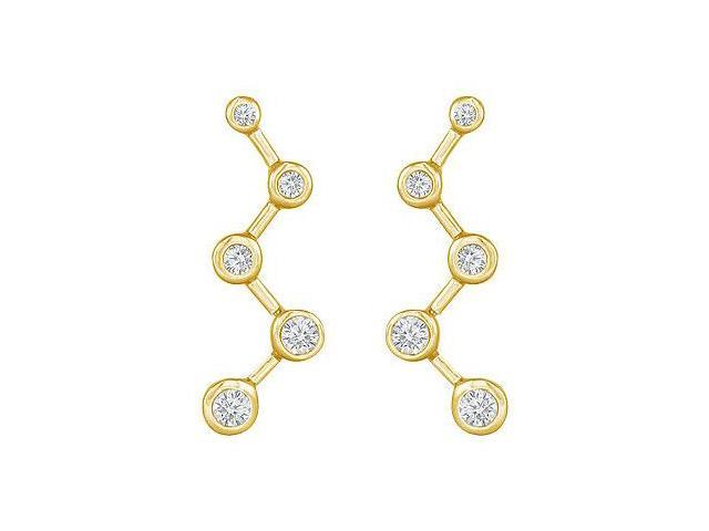 Diamond Journey Earrings  14K Yellow Gold - 0.50 CT Diamonds