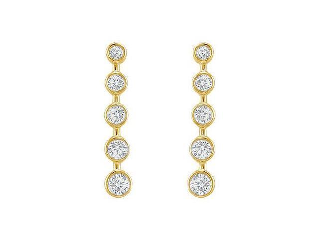 Diamond Journey Earrings  14K Yellow Gold - 1.00 CT Diamonds