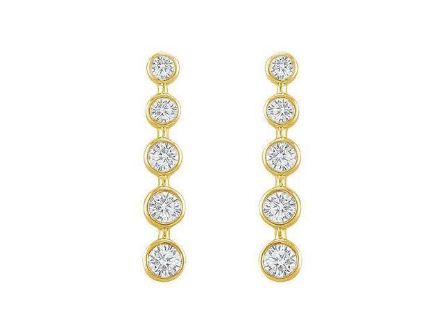 Diamond Journey Earrings  14K Yellow Gold - 2.00 CT Diamonds