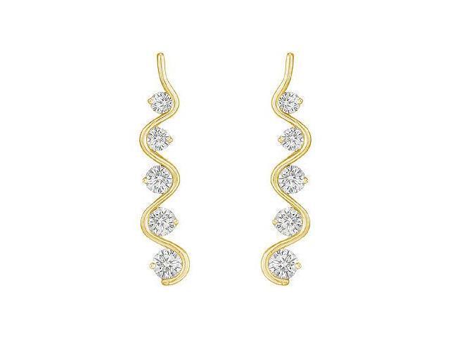 Diamond Journey Earrings  14K White Gold - 2.00 CT Diamonds