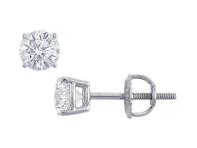 Platinum  Round Diamond Stud Earrings  0.50 CT. TW.