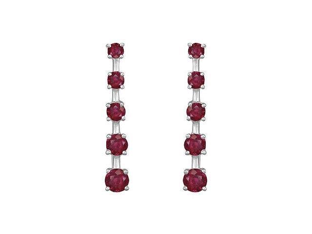 Ruby Journey Earrings  14K White Gold - 2.00 CT TGW
