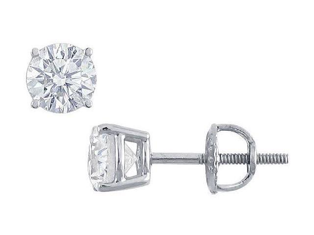 Platinum  Round Diamond Stud Earrings  1.25 CT. TW.
