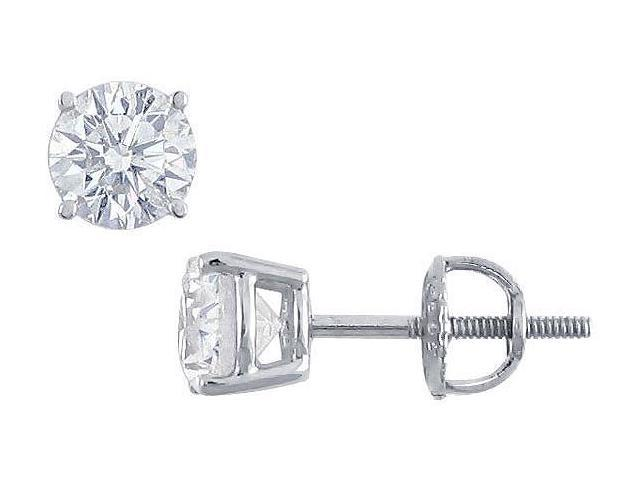Platinum  Round Diamond Stud Earrings  1.50 CT. TW.