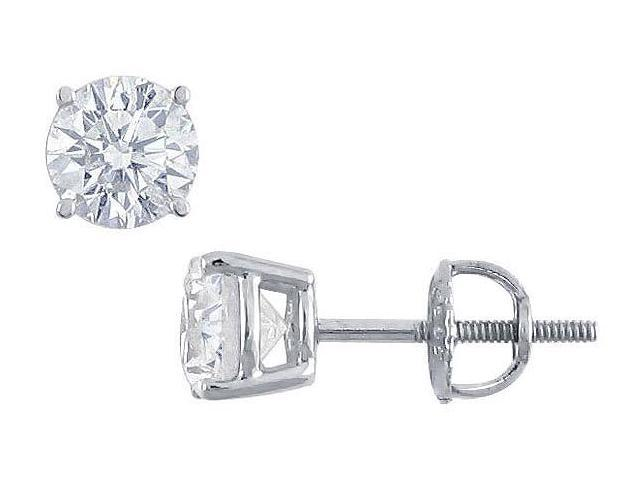 Platinum  Round Diamond Stud Earrings  1.75 CT. TW.