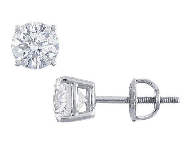Platinum  Round Diamond Stud Earrings  2.00 CT. TW.