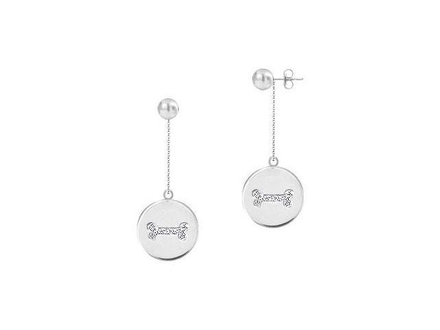 Diamond Disc Earrings  14K White Gold - 0.25 CT Diamonds