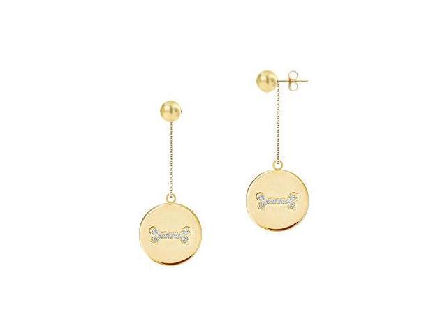 Diamond Disc Earrings  14K Yellow Gold - 0.25 CT Diamonds