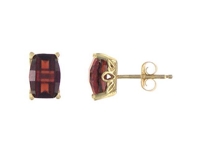 Garnet Earrings  14K Yellow Gold - 1.25 CT TGW