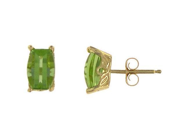 Peridot Earrings  14K Yellow Gold - 1.00 CT TGW