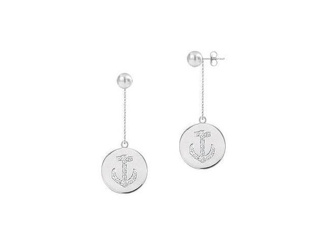 Diamond Disc Earrings  14K White Gold - 0.30 CT Diamonds