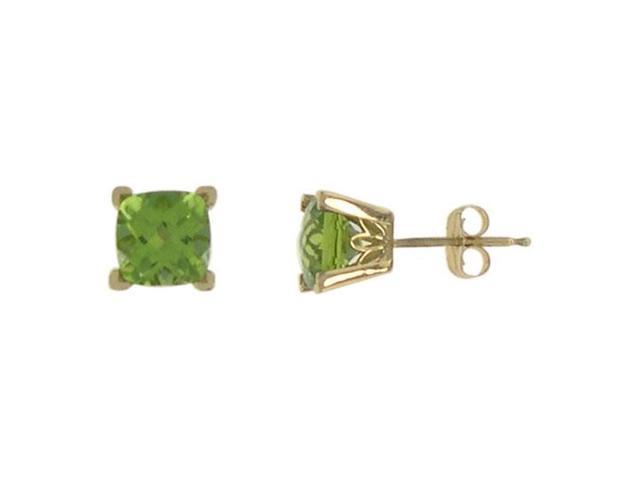 Peridot Earrings  14K Yellow Gold - 1.25 CT TGW