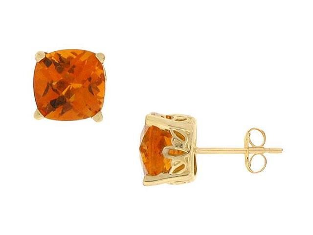 Citrine Earrings  14K Yellow Gold - 2.25 CT TGW